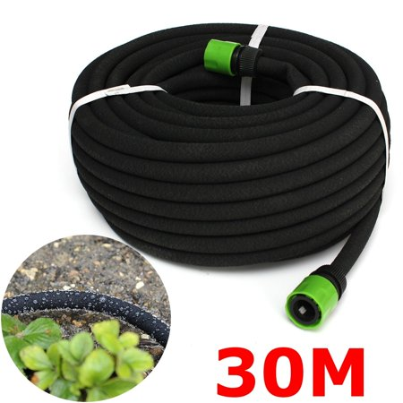 Flower Connector - 39FT Black Porous Irrigation Soaker Hose Lawn & Home Garden Watering Pipe Adapter Connector Waterign Hedges Flower Plant Vegetable NEW
