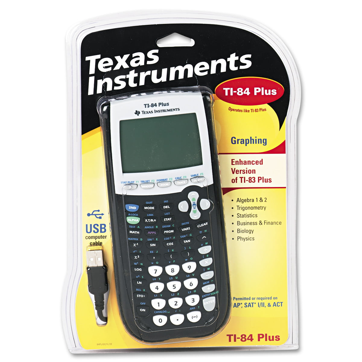 Texas Instruments Ti84plus Programmable Graphing Calculator, 10digit Lcd   Walmart