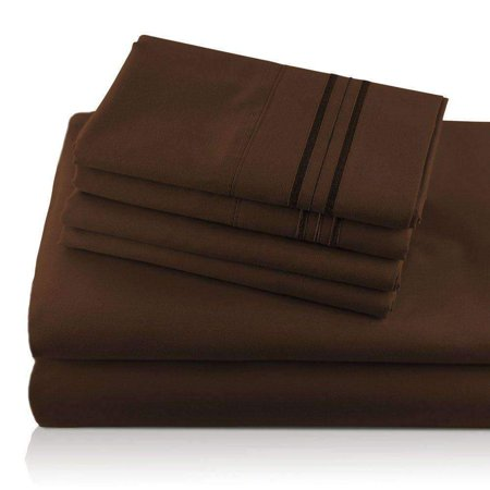 Giovanni Monogrammed Egyptian Comfort Sheets (6-piece -