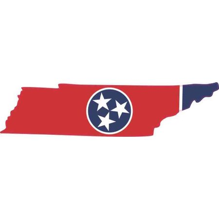 5in x 1.25in Die Cut Tennessee Sticker State Flag Car Decal Cup Stickers