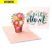 New 3D Pop Up Love Greeting Card Christmas Birthday Mothers Day - Best Mom