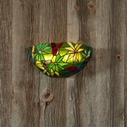 Stained Glass Half Moon Rain Forest Sconce