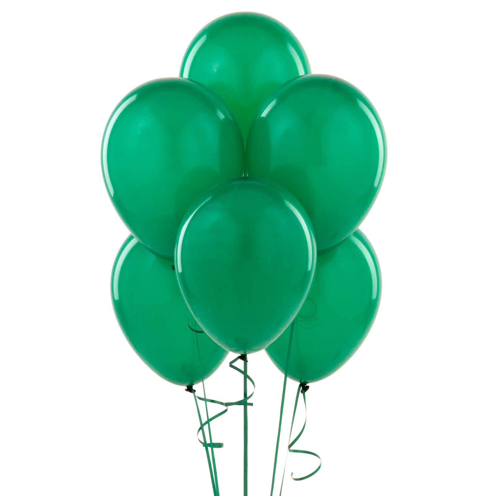 """Helium Quality Bulk Solid Round Standard 11"""" Latex Balloons, 100 CT"""