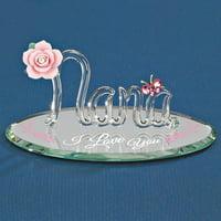 I Love You Nana Glass Figurine Religious Baptism/christening/communion Grparent Great