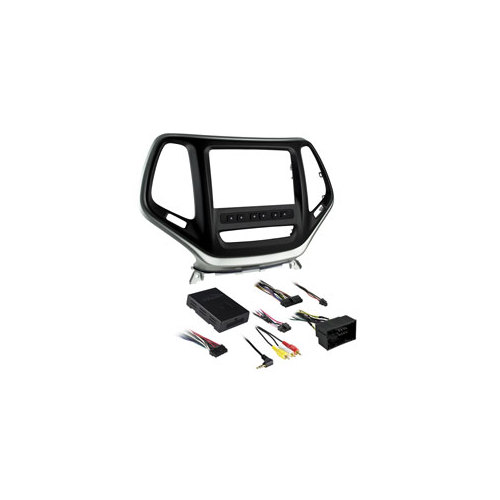METRA(TM) 996526S Jeep Cherokee 2014-Up DDIN In-Dash Kit Silver by Metra