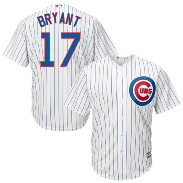 Kris Bryant Chicago Cubs Majestic Cool Base Player Jersey - White