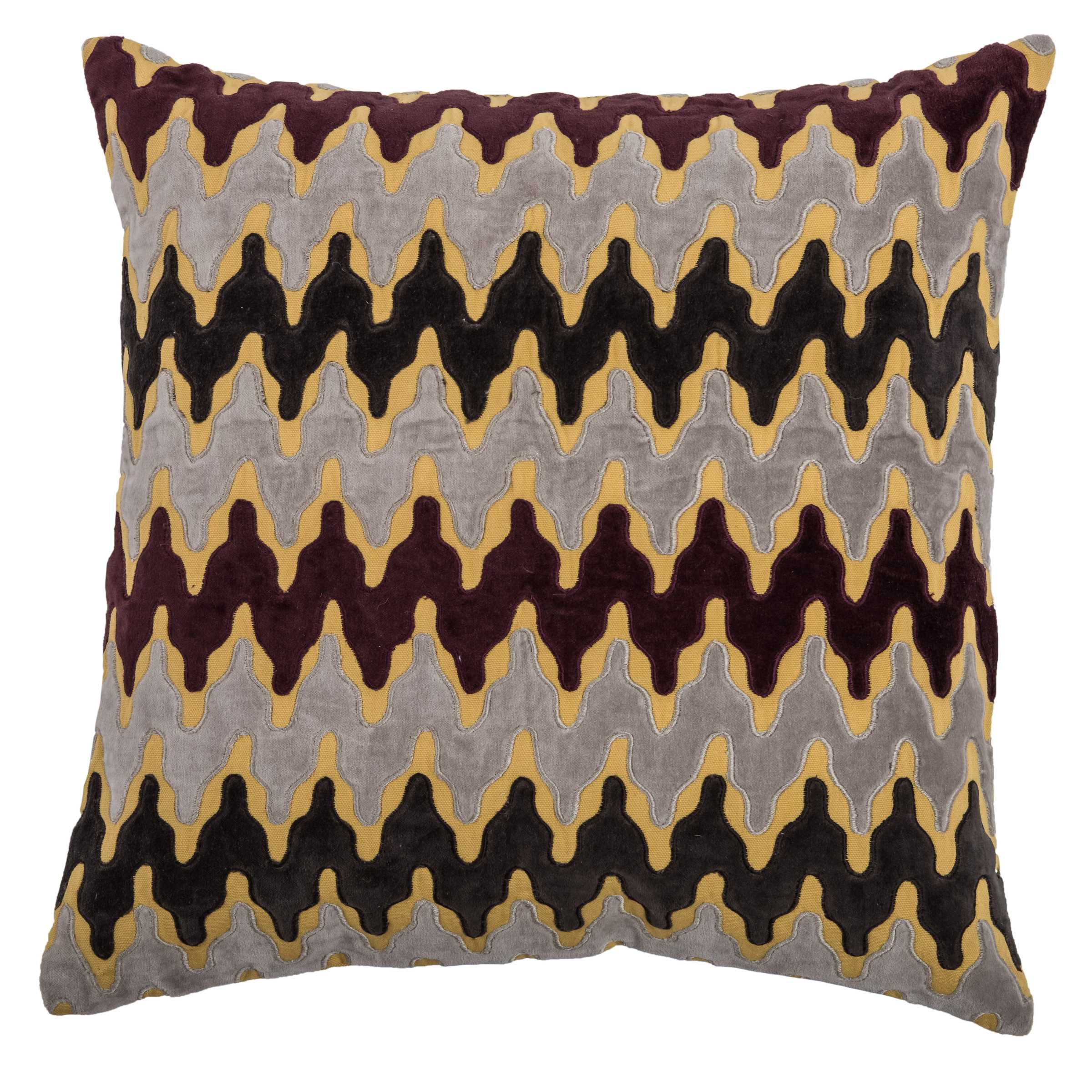 """Rizzy Home Decorative Poly Filled Throw Pillow Chevron 18""""X18"""" Brown"""