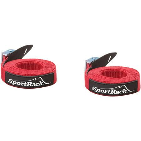 SportRack SR0700 Universal Tie Down Straps, 9-feet, Red (Quick Draw Tie Down Equipment)