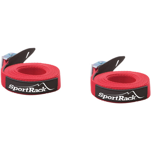 SportRack SR0700 Universal Tie Down Straps, 9-feet, Red