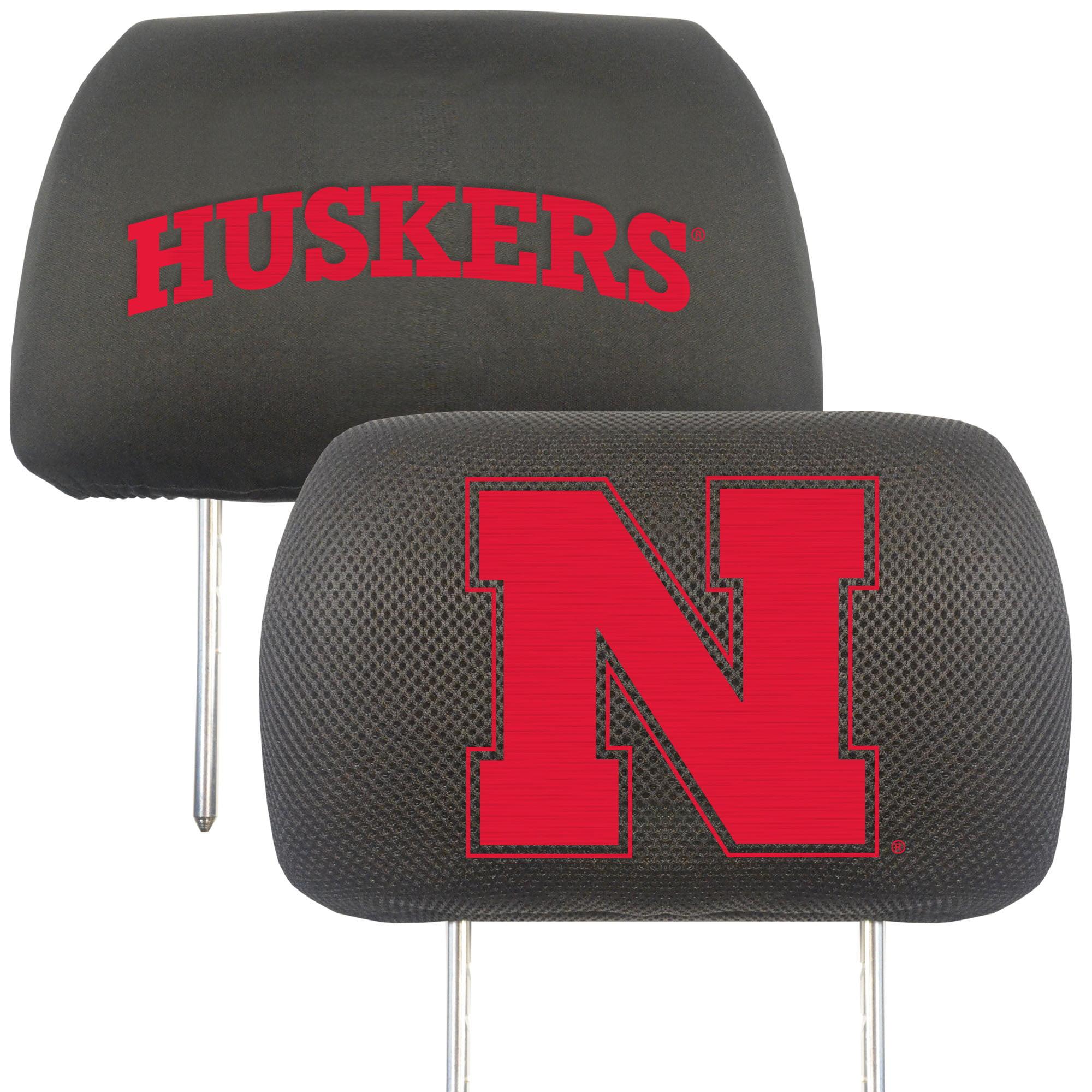 NCAA University of Nebraska - Blackshirts Cornhuskers Head Rest Cover Automotive Accessory