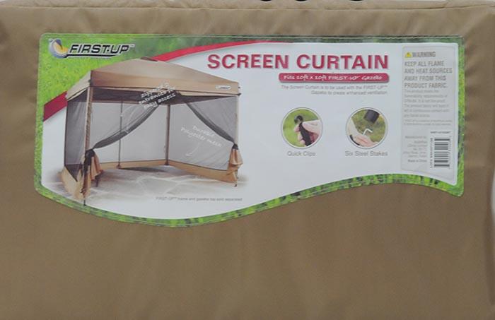 First-Up 10' x 10' Gazebo Screen Curtain, Tan - Walmart com