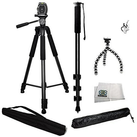 3 Piece Best Value Tripod Package for the Sony a5000, a5100, a6000, a3000, Alpha a7, a7R, a7S, RX1R, a65, a58, a57, a55, a35, a33, a390, HX100, RX100, RX100M II & RX100M