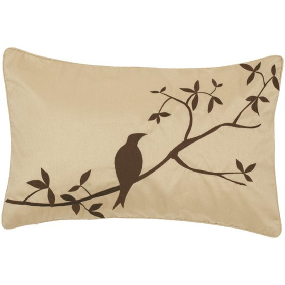 Brown Rectangular Throw Pillow : 20