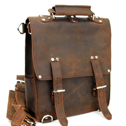 Vagabond Traveler Hiker Leather Backpack