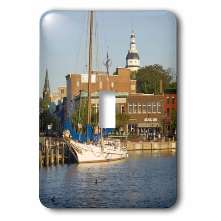 3dRose Annapolis city docks, Severn River, Maryland - US21 JME0005 - John and Lisa Merrill, 2 Plug Outlet Cover