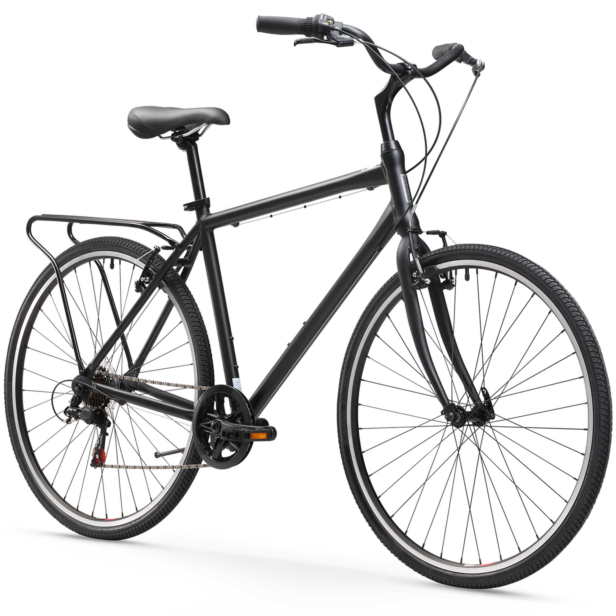 "sixthreezero Explore your Range, 26"", Men's, Seven Speed, Matte Black"