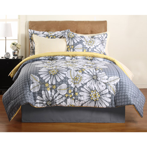 Hometrends Graphic Floral Complete Bedding Set