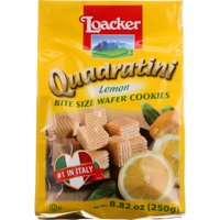 Loacker Quadratini Lemon Wafer Cookies, 8.82 Oz (Pack Of, 6)