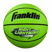 Franklin Sports Night Lightning Glow In The Dark Durable Rubber Mini Basketball by Franklin Sports