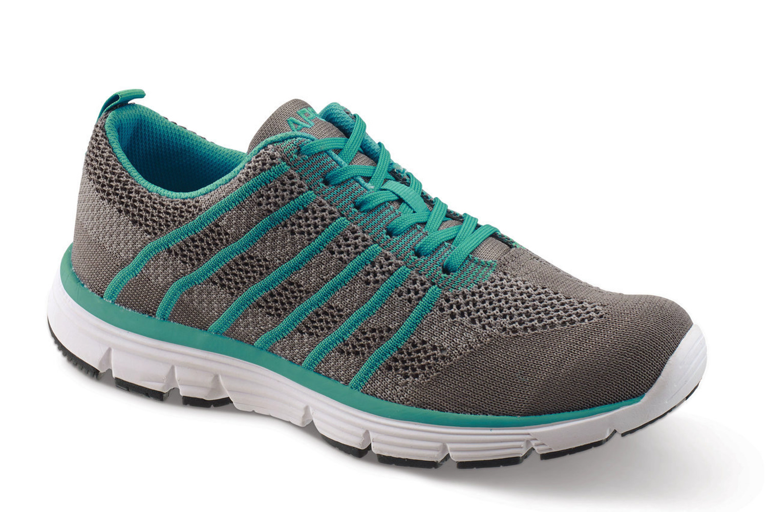 Apex A7100W Women's Athletic Shoe: 6.5 X-Wide (2E-3E) Navy Lace