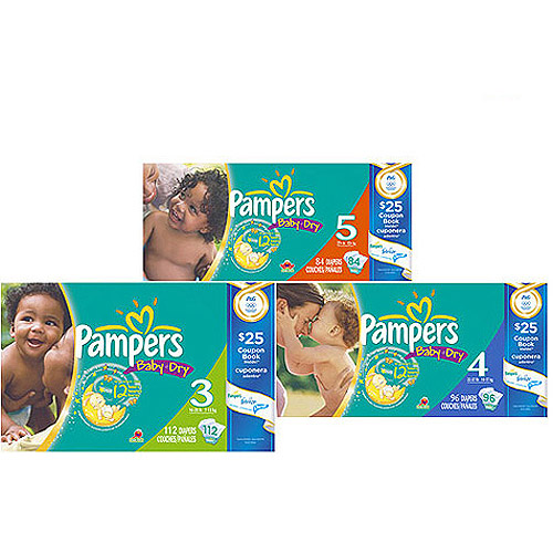 Pampers Olympic Baby Dry Diapers with Bonus Coupon Booklet