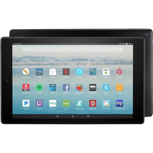 "Amazon Fire HD 10 Tablet - 10.1"" - 2 GB - MediaTek Quad-core (4 Core) 1.80 GHz - 32 GB - Fire OS 5 - 1920 x 1200 - In-plane Switching (IPS) Technology - Black - 16:9 Aspect Ratio - microSD Memory"
