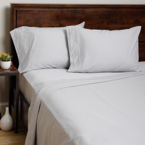 Homtex Moments 400 Thread Count Egyptian Cotton FitRite Pillowcases (Set of 2)