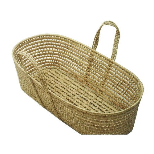 Wendy Anne Palm Leave Moses Basket With Handles