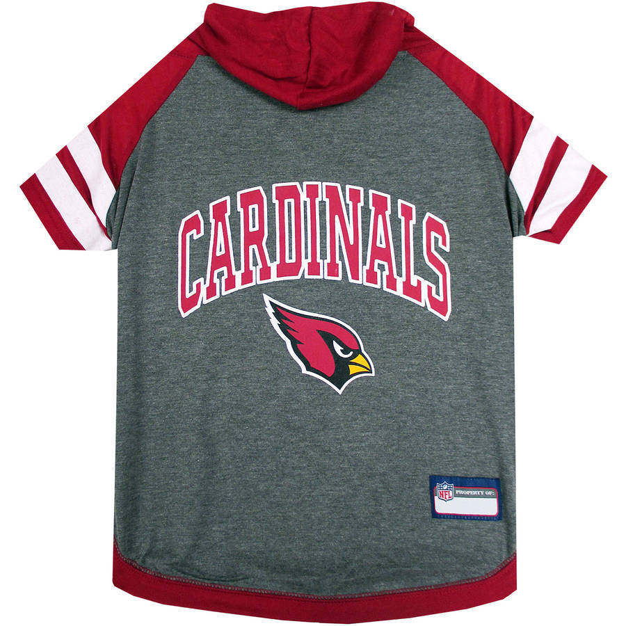 Pets First NFL Arizona Cardinals Pet Hoodie Tee Shirt