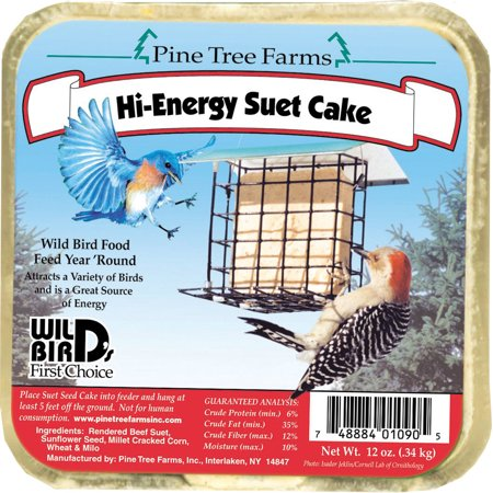 Pine Tree Farms Inc-Suet Cake- Hi-energy 12 Ounce