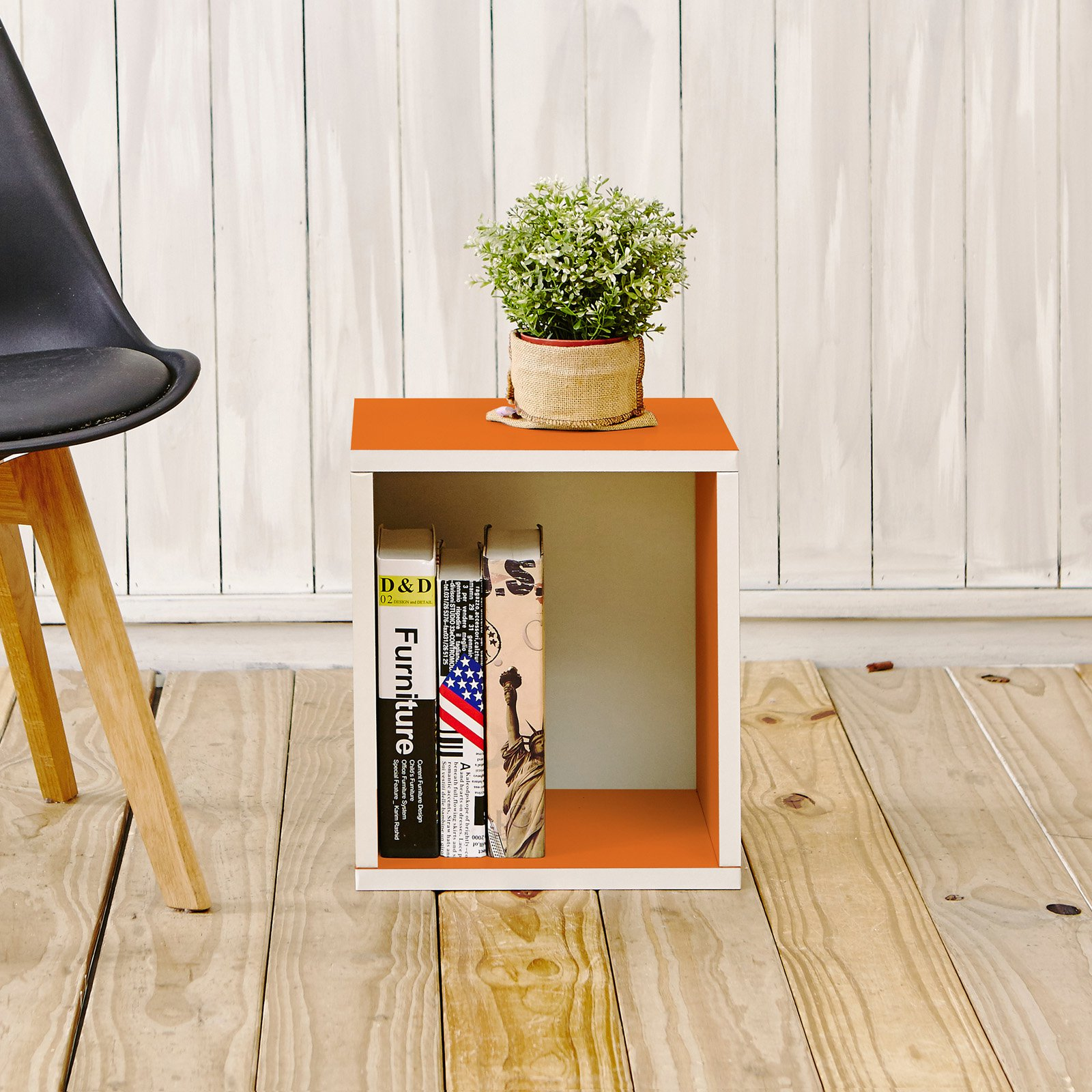 Way Basics Eco Stackable Storage Cube Plus and Cubby Organizer, Multiple Colors