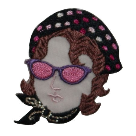 ID 7458 Chic Woman With Beret Patch Fashion Designer Embroidered IronOn Applique