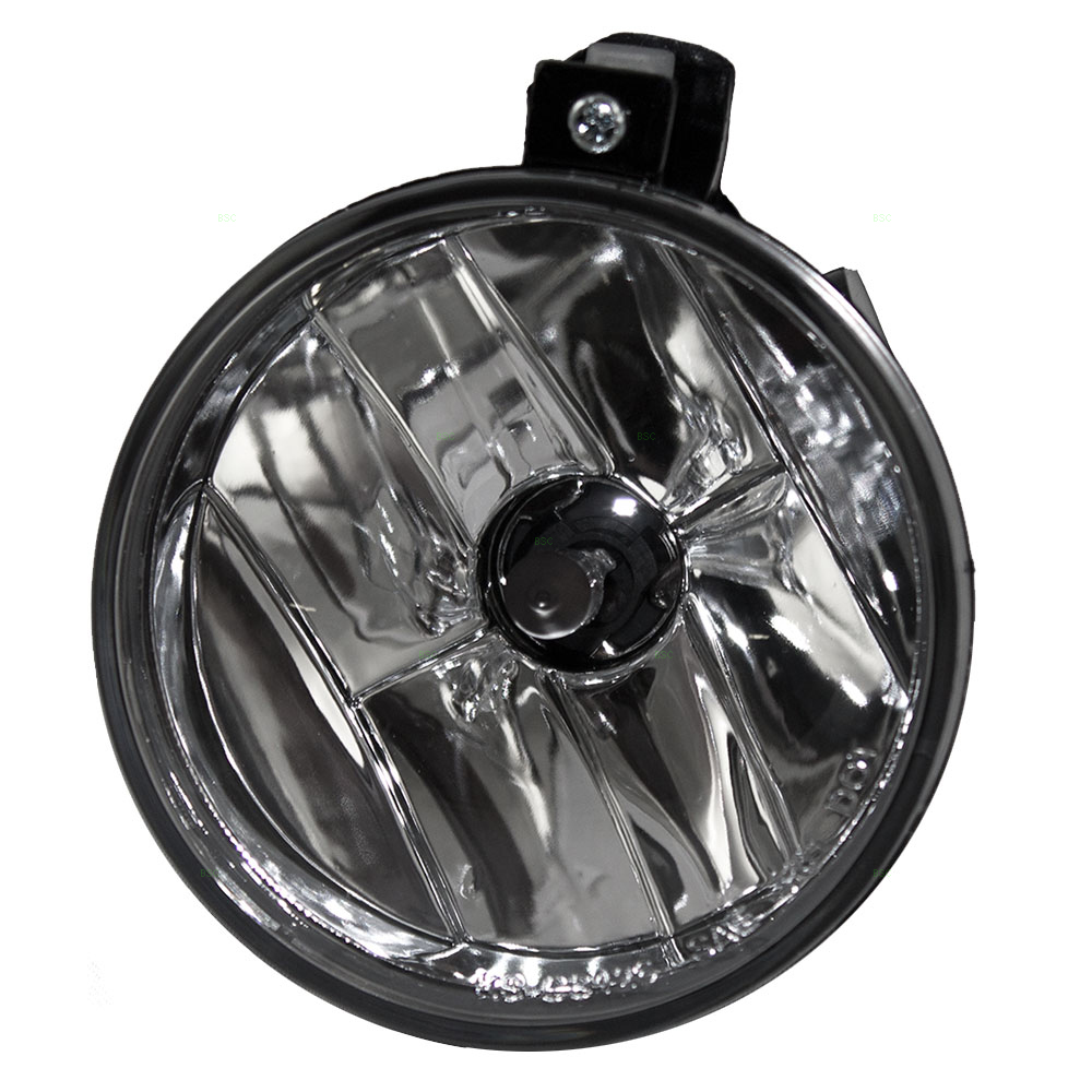 Round Fog Light Lamp w/ Clear Lens Replacement for Dodge 01-03 Durango & 01-04 Dakota Pickup Truck SUV 55077320AB