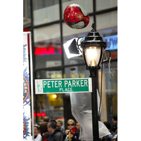 Peter Parker Place Street Sign And Lamp Post At Talk Show Appearance For Spider-Man Week In Nyc Kicks Off On Nbc Today Show Rockefeller Center New York Ny April 30 2007 Photo By Ray TamarraEverett