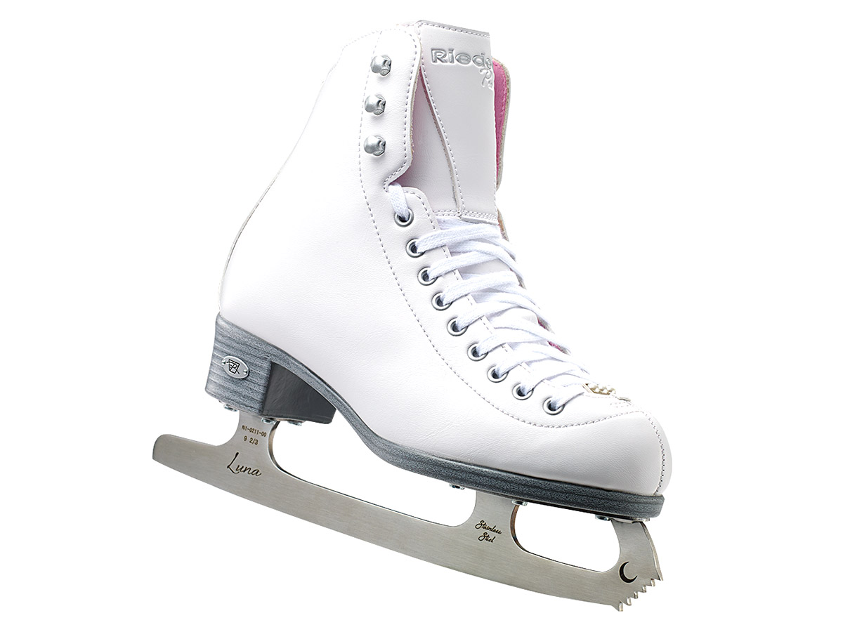 Riedell Pearl Ladies Figure Skates With Eclipse Luna Blades by RIEDELL