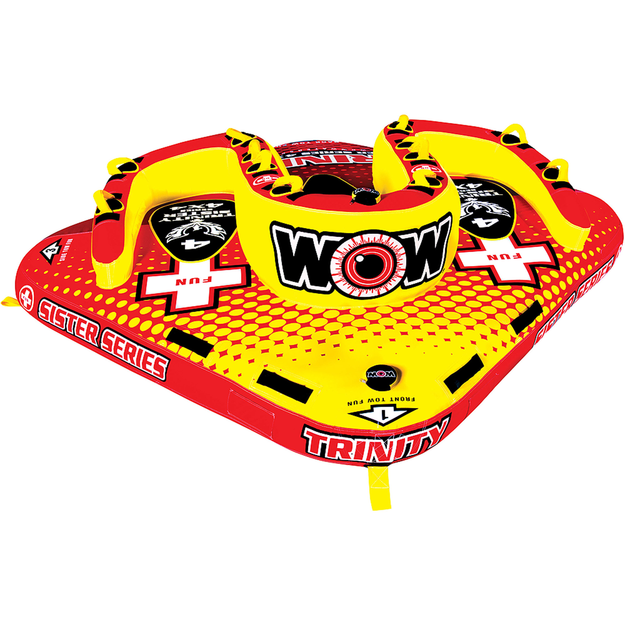 WOW World Of Watersports 15-1080 Trinity Sister Series 4-Rider Towable by World of Watersports