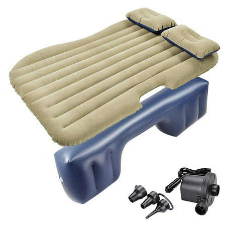 Yescom Inflatable Mattress Car Air Bed Backseat Cushion Travel Camping w/ Pillow (Best Inflatable Car Bed)