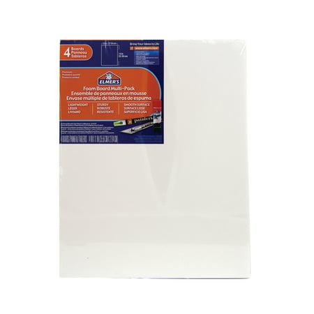 "Elmers Foam Board Multi-Pack, 11"" x 14"", 4/Pkg., White"