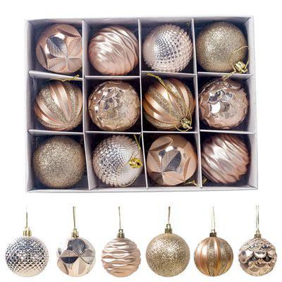 Fancyleo 12PCS Christmas Tree Christmas Ball Decoration Ornaments Family Party Decoration Christmas Decoration Ball Box ()