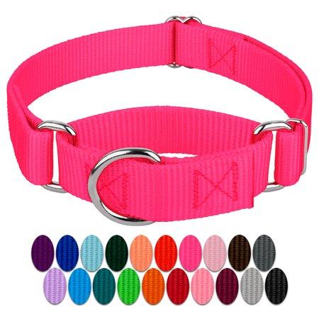 Country Brook Design | Martingale Heavyduty Nylon Dog Collar Purple Plaid Dog Collar