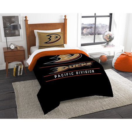 Anaheim 3 Piece Set - Anaheim Ducks The Northwest Company NHL Draft Twin Comforter Set