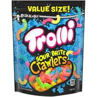 Trolli Sour Brite Crawlers Gummy Worms Bag, 28.8 Oz