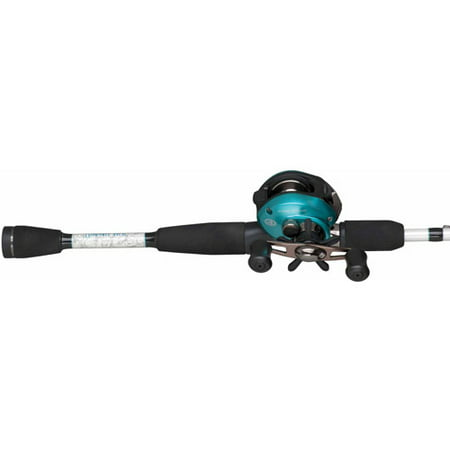 Pflueger Lady Trion Low Profile Baitcast Reel and Fishing Rod (Green Combo)