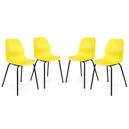 Set of 4 Nova Retro Modern Utility Side Guest Chairs (Retro Modern)