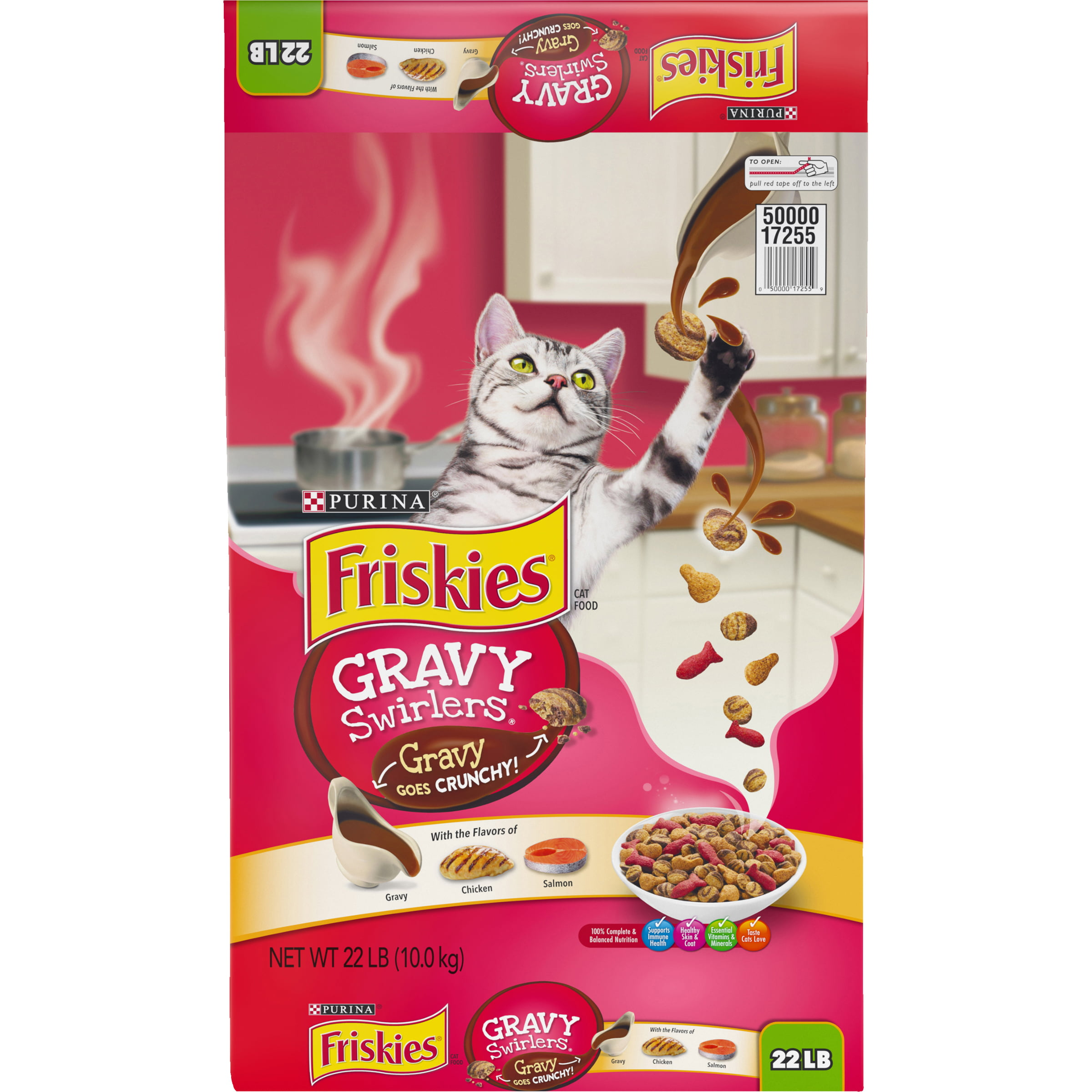 Friskies Gravy Swirlers Dry Cat Food, 22 lb by Nestle Purina Petcare Company
