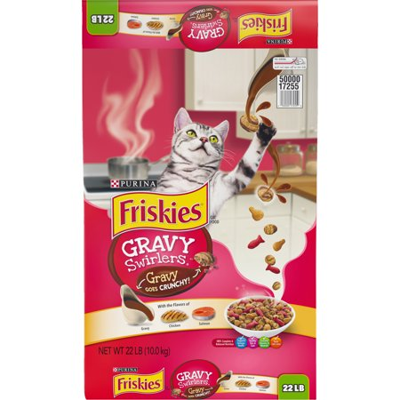 Friskies Gravy Swirlers Dry Cat Food, 22 lb (Best Food For Struvite Crystals In Cats)