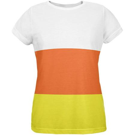 Halloween Candy Corn Costume All Over Womens T-Shirt - Top Ten Halloween Candy 2017