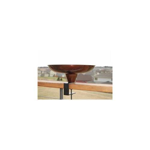 Round Deck Mount Birdbath, Copper Finish