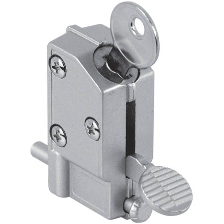 Prime Line U9882 Gray Diecast Patio Door Keyed Lock ()