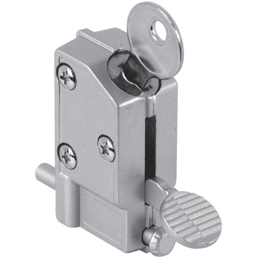 Prime Line U9882 Gray Diecast Patio Door Keyed Lock